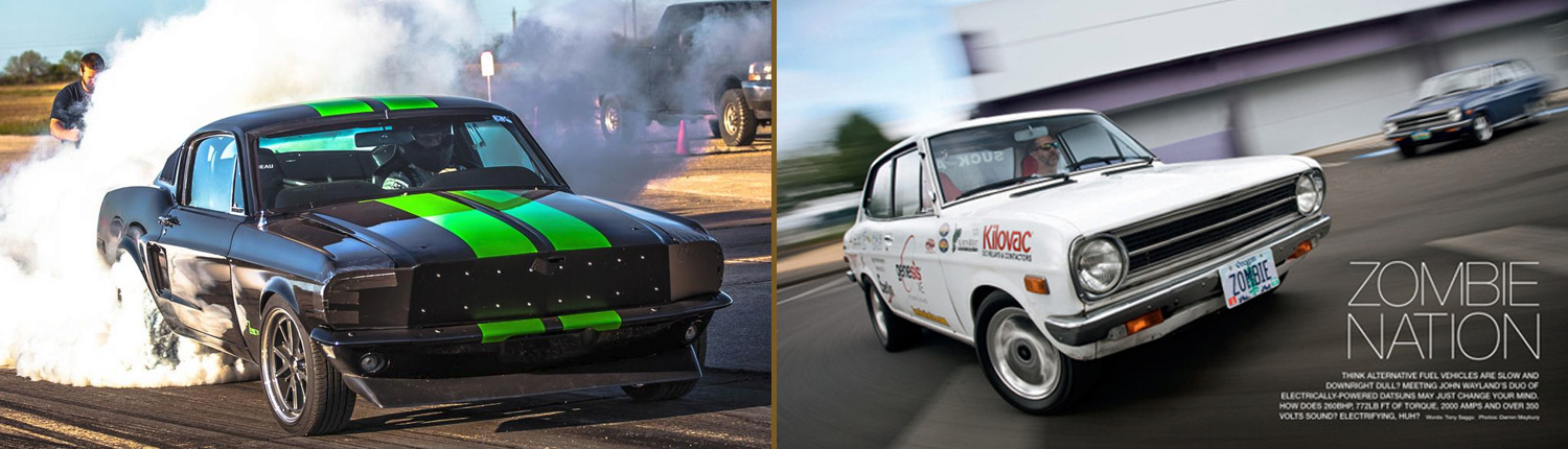 Green Zombie & White Zombie - the world's fastest electric cars